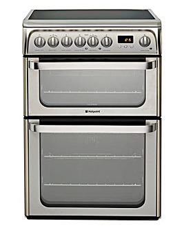 Hotpoint Ultima 60cm Double Oven Electric Cooker Ceramic Hob + Install