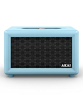 Akai Retro Bluetooth Speaker Blue