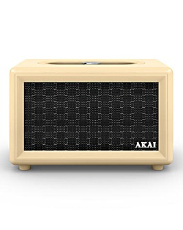 Akai Retro Bluetooth Speaker Cream