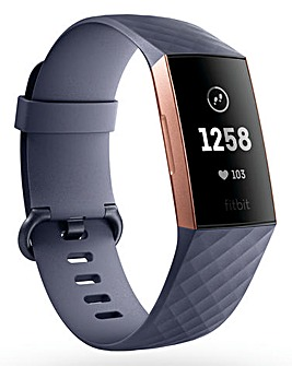 Fitbit Charge 3 FB409RGGY-EU Rose Gold/Blue Grey