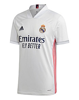adidas Real Madrid FC 2020/21 Short Sleeve Home Shirt