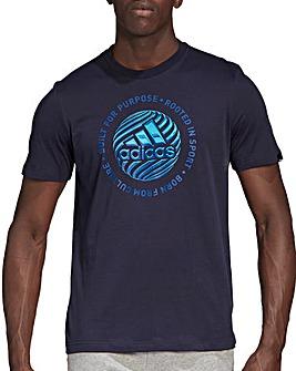 adidas Slogan T-Shirt