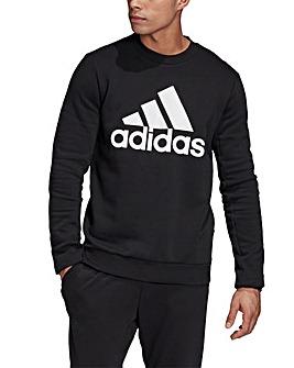 adidas Logo Print Crew Sweat