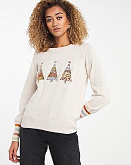 Novelty Sequin Christmas Tree Jumper