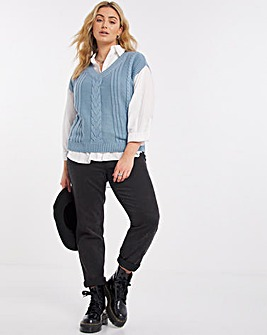 Cable Knitted Vest