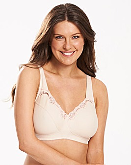Naturally Close Sarah Non Wired Cotton Rich Natural Bra