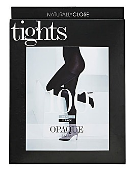 Naturally Close 2 Pack Navy 100 Denier Opaque Tights