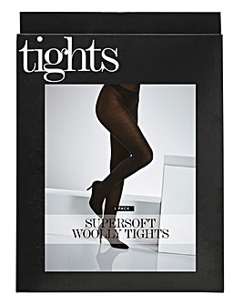 Pretty Secrets 1 Pack Black Supersoft Woolly Tights