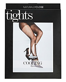 2 Pack Black 10 Denier Cooling Tights