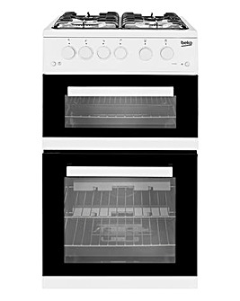 Beko KDG582W 50cm Twin Cavity Gas Cooker White