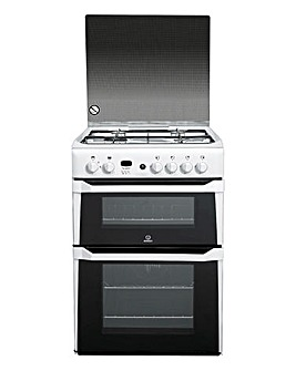 Indesit ID60G2W Double Oven Gas Cooker