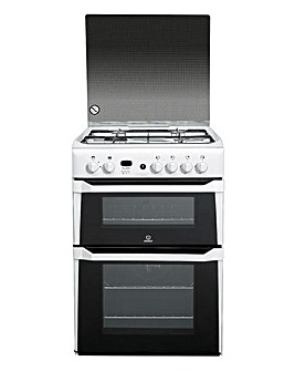 Indesit ID60G2W 60cm Double Oven Gas Cooker White + Installation