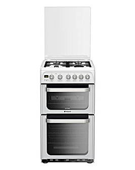 Hotpoint HUG52P Double Oven Gas Cooker