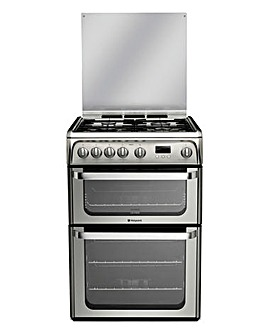 Hotpoint Ultima HUG61X Gas Double 60cm Cooker Stainless