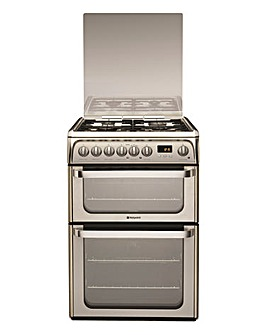Hotpoint Ultima HUD61X Dual Fuel Double 60cm Cooker Stainless