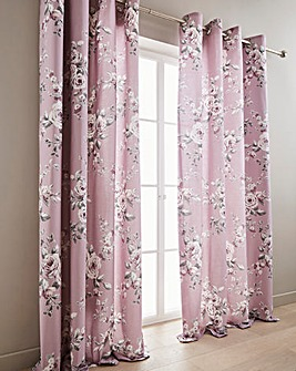 Canterbury Heather Eyelet Curtains
