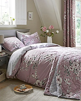 Catherine Lansfield Canterbury Heather Reversible Duvet Cover Set