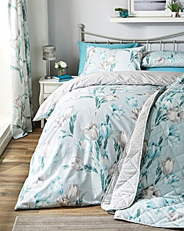 Tulip Duck Egg Duvet Cover Set