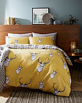Stag Ochre Duvet Cover Set