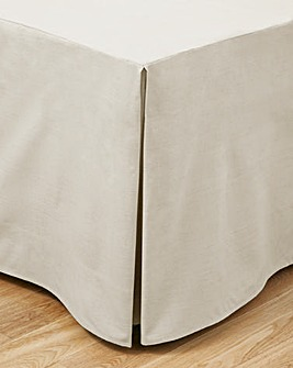 Easy-Care Plain-Dye Fitted Valance Sheet