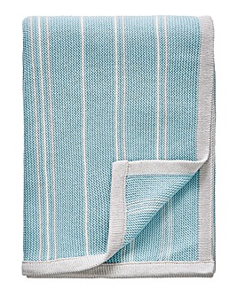 Sanderson Pippin Teal Knit Throw