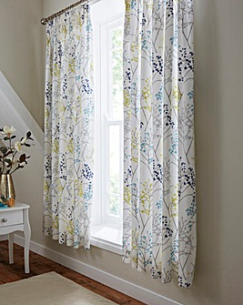 Sanderson Pippin Teal Curtains