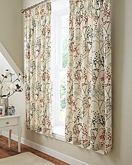 Sanderson Pippin Coral Curtains