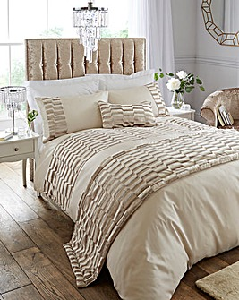 Murray Velvet Oyster Duvet Cover Set
