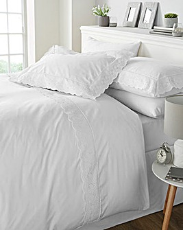 Renaissance White Duvet Cover Set