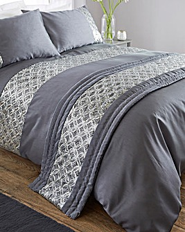 Jocasta Embellished Quilted Runner