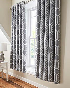 Beaufort Jacquard Eyelet Curtains