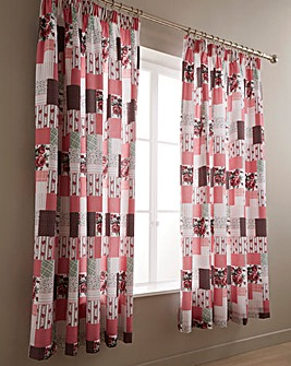 Cordelia Patchwork Pencil Pleat Curtains