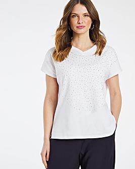 Julipa T Shirt with Stud Detail