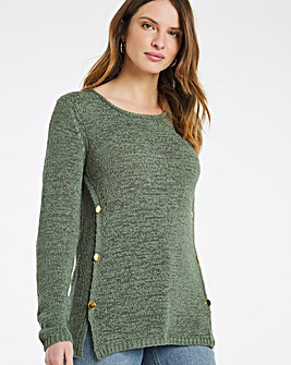 Julipa Tape Yarn Button Jumper