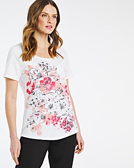 Julipa Short Sleeve T Shirt with Floral Print