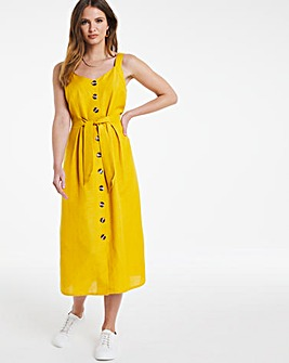 Julipa Linen Button Through Dress