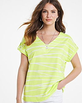 Julipa Stripe Print Jersey Top