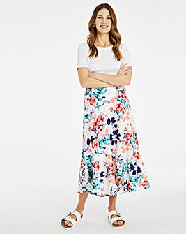 Julipa Print Linen Skirt 34