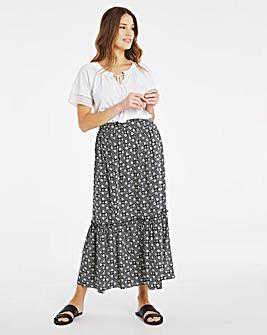 Julipa Frill Hem Maxi Skirt