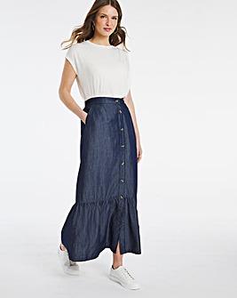 Julipa Lyocell Frill Hem Skirt