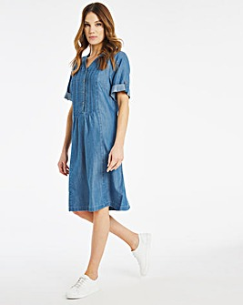 Julipa Lyocell Pintuck Dress