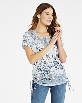Julipa Diamonte Drawstring Side Top
