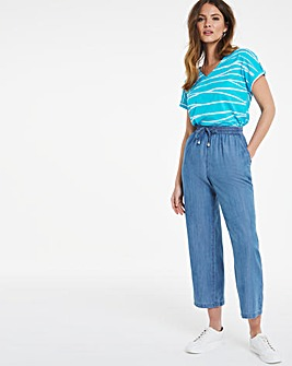 Julipa Cropped Lyocell Trousers