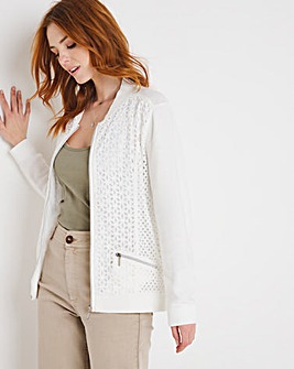 Julipa Lace Front Knitted Bomber