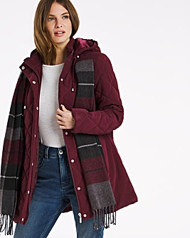 Julipa Padded Jacket with Scarf