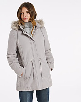Julipa Parka with Faux Fur Trim Hood