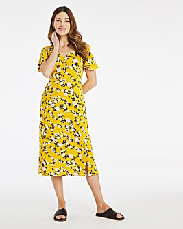 Julipa Crinkle Button Through Dress