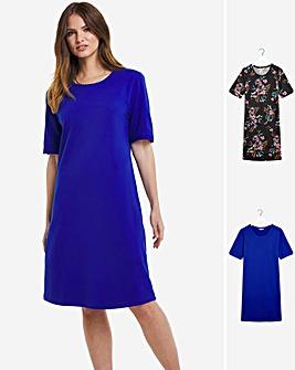 Julipa 2 Pack Pique Jersey Dresses