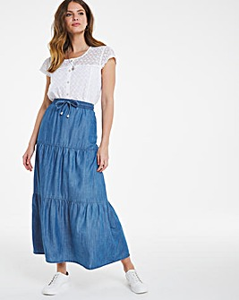 Julipa Lyocell Tiered Skirt