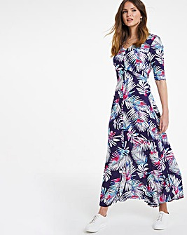 Julipa Print Button Through Dress